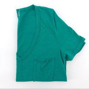 Anthropologie t.la Pocket Tee Shirt Teal Cotton